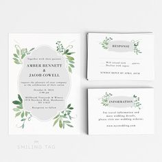 Botanical Garden Wedding Invitations Vineyard Italian Foliage
