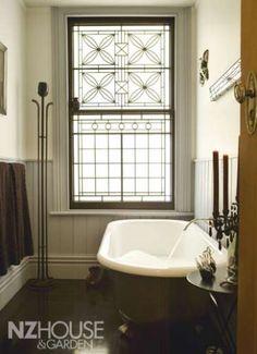 Chic bathroom; NZ House  Garden Image Gallery