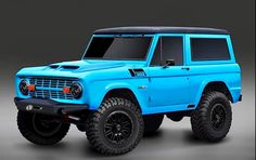 Ford Nitrous Blue or maybe grabber Old Ford Bronco, Bronco Truck, Early Bronco, Jeep Truck, Cool Trucks, Pickup Trucks, Bronco Ii, Chevy Trucks, Classic Bronco