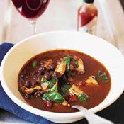 Turkey and Black-Bean Soup  looks good. Lot of ingredients, but most on hand.   http://www.cooking.com/recipes-and-more/recipes/Turkey-and-Black-Bean-Soup-recipe-2229.aspx?a%3dcknwrdne03440a%26s%3ds0029674203s%26mid%3d1167198%26rid%3d29674203#axzz27j4nFWwe