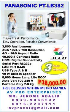Panasonic PT-LB382 Business, Corporate and Education Projector #PanasonicPTLB382 @PanasonicPTLB382 #PTLB382 @PTLB382