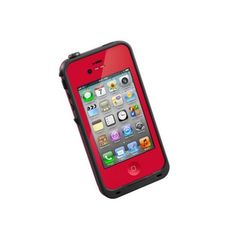 LifeProof 1001-08 Carrying Case for iPhone 4S/4 – 1 Pack – Retail Packaging – Red/Black