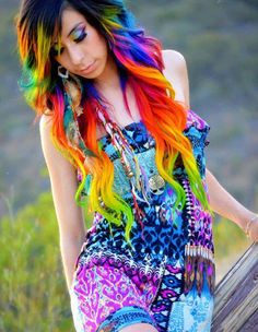 3 Bright Hair Colour Styles to Try Out in 2014 » Rainbow Hair Colour