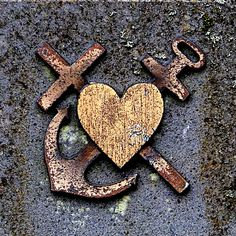 heart, anchor and cross