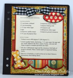 CC Recipe book by tradergirl - Cards and Paper Crafts at Splitcoaststampers