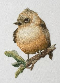 "From Trish Burr's Color Confidence book. Tufted Flycatcher. 2.5""w x 3.5"" high. Done by Cindy, October 2015"