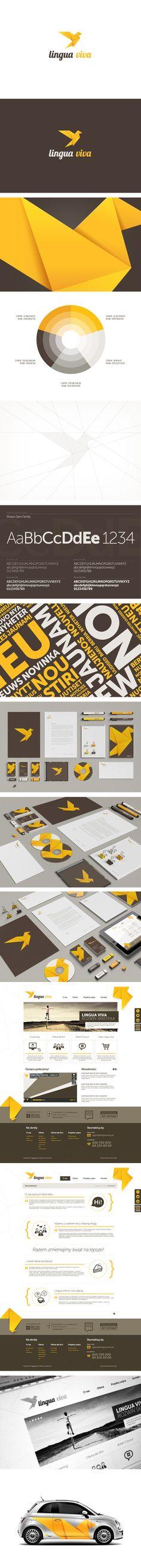 Lingua Viva - Language School. Visual Identity/Rebranding