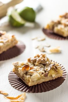 Key Lime Curd Bars with Toasted Coconut Chips and Almonds