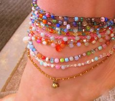 Get ready for summer with colorful anklets with FREE by Sydnejo, $16.00