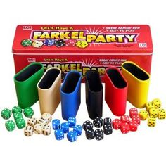 Great Family Fun Easy to Play Two to Six Players Age 8 and Up. Listed as one of the best dice games in the world, Farkel is a game of guts an luck, guaranteed to provide plenty of hootin' and hollarin' action for everyone from grade school to grandpa. Adult Party Games, Adult Games, Games For Kids, Game Party, Pen And Paper Games, Family Fun Night, Fun Board Games, Dice Games, Tabletop Games
