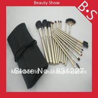 18pcs cepillo profesional del maquillaje / kit , el maquillaje del pelo de la cabra del sistema de cepillo , Bolsa de cuero excelente