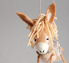 Nina  Honey Felt Donkey. Art Toy. Felted Toys by TwoSadDonkeys