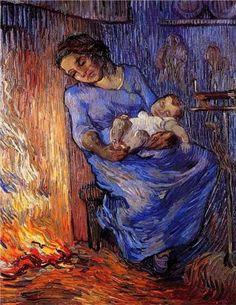 """Vincent van Gogh. """"El marido está en el mar"""" 1889"""