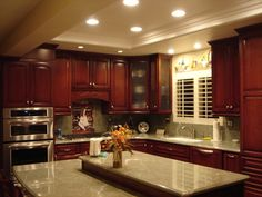 I Like The Trey Ceiling With Recessed Lighting For The Kitchen