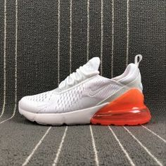 Nike Air Max 270 Men s Running Shoes White Orange Nike Air Vapormax 3ac1db26d