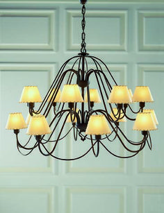 Lámpara Miriñiaque mini 16 luces, se puede cambiar el color de la forja, así como las pantallas