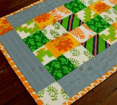 Quilted placemat  mug rug mini runner table topper by chezvies