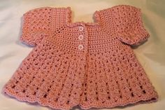 Crochet Baby Sweater Crochet Short Sleeved Baby by TheBabyCrow