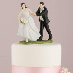 """Figura de pastel """"Carrera hacia el altar"""" #original #figura para #pastel #bonita #original para #boda #tienda #ondinecollection pintadas a mano porcelana #df"""