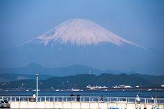 Mt. Fuji from Enoshima across Sagami bay