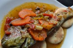 Brown Stewed Snapper Fish
