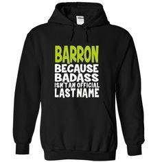 (BadAss) BARRON T Shirts, Hoodies. Check price ==► https://www.sunfrog.com/Names/BadAss-BARRON-cpwhnfcjod-Black-42568143-Hoodie.html?41382