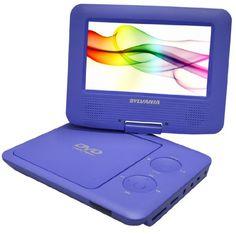 Sylvania SDVD7027 7-Inch Portable DVD Player with Car Bag/Kit, Swivel Screen, USB/SD Card Reader (Purple)