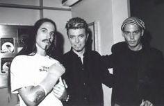 Anthony Kiedis, David Bowie and Johnny Depp.