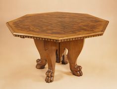 Centre Table Italian Design in Walnut