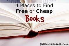 4 Places to Find Free or Cheap Books | The Humbled Homemaker