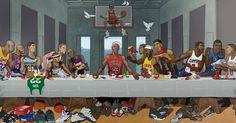 Was bei dieser NBA-Version vom letzten Abendmahl falsch läuft
