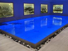 an AMAZING indoor pool