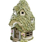 Found it at Wayfair - Miniature Round Garden Solar Fairy House Statue