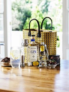 Gourmet Gifts, Online Gifts, Gin, Safari, Cocktails, Home And Garden, Basket, Table Decorations, Detail