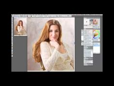 Painting hair with Portrait Photographer and Painter Master Helen Yancy