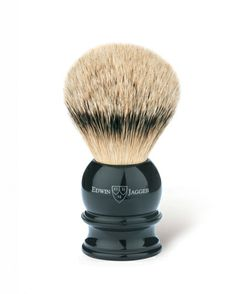 Buy Edwin Jagger Black Shaving Brush (Silver Tip) from The English Shaving Company. Extensive range of Silver Tip Badger Shaving Brushes from premium brands. Badger Shaving Brush, Shaving Oil, Shaving Cream, Edwin Jagger, The Art Of Shaving, Best Brushes, Loose Hairstyles, Silver