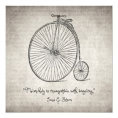 Melancholy is Incompatible with Bicycling Acrylic Wall Art - vintage gifts retro ideas cyo Bicycle Drawing, Bicycle Art, Tandem Bicycle, Vintage Quotes, Vintage Posters, Solar System Art, Nina Simone, Thing 1, Cycling Art