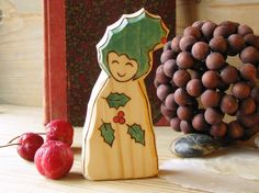 Holly Fairy  Christmas decoration  waldorf  toy  by Rjabinnik, $9.90