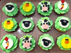 Baby Shower Cupcakes- Farm Animals