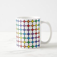 #Black Outlined Rainbow 4 Point Stars Coffee Mug - #drinkware #cool #special