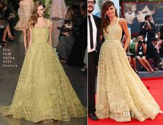 Goya Toledo In Elie Saab Couture – 'Everest' Venice Film Festival Premiere & Opening Ceremony