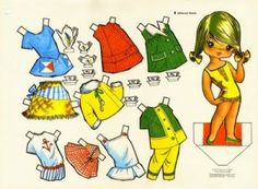 Recortable de muñecas antiguas | Tífani