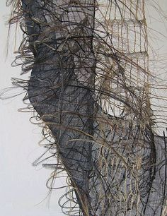 The idea of weaving with unique fibers is one I'm looking forward to exploring more while I'm home for the next few weeks. Marianne Kemp does just that with horsehair. Textile Sculpture, Textile Fiber Art, Textile Artists, Fibre Art, Weaving Projects, Weaving Art, Collage Art, Collages, Fibre And Fabric