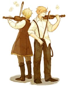 Hetalia - America and England