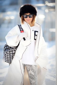 padded coat, down coat outfit, margiela for H&M down coat, street style ideas, winter outfits, winter look, cold weather outfit,