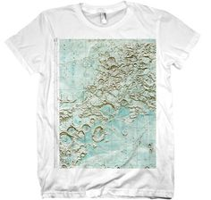 $17 Lunar Map T-shirt from Nonfiction Tees on Etsy.