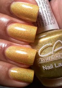 Catherine Arley - No Name (that's ashame)   Chartreuse Golden Yellow Holographic
