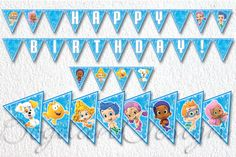 INSTANT DOWNLOAD Bubble Guppies Banner Printable by BogdanDesign