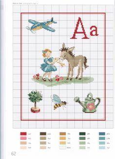"""Mon imagier retro"" alphabet A"