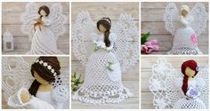 The free angel patterns on this page are quick to crochet. Many people collect Crochet angels and use them at